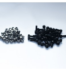 Tornillería negra estructura