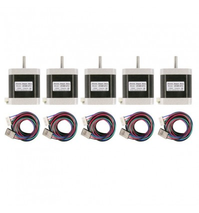 5 Stepper Motors NEMA 17 67 OZ-IN