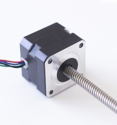 Nema 17 stepper motor with 420 mm integrated lead screw